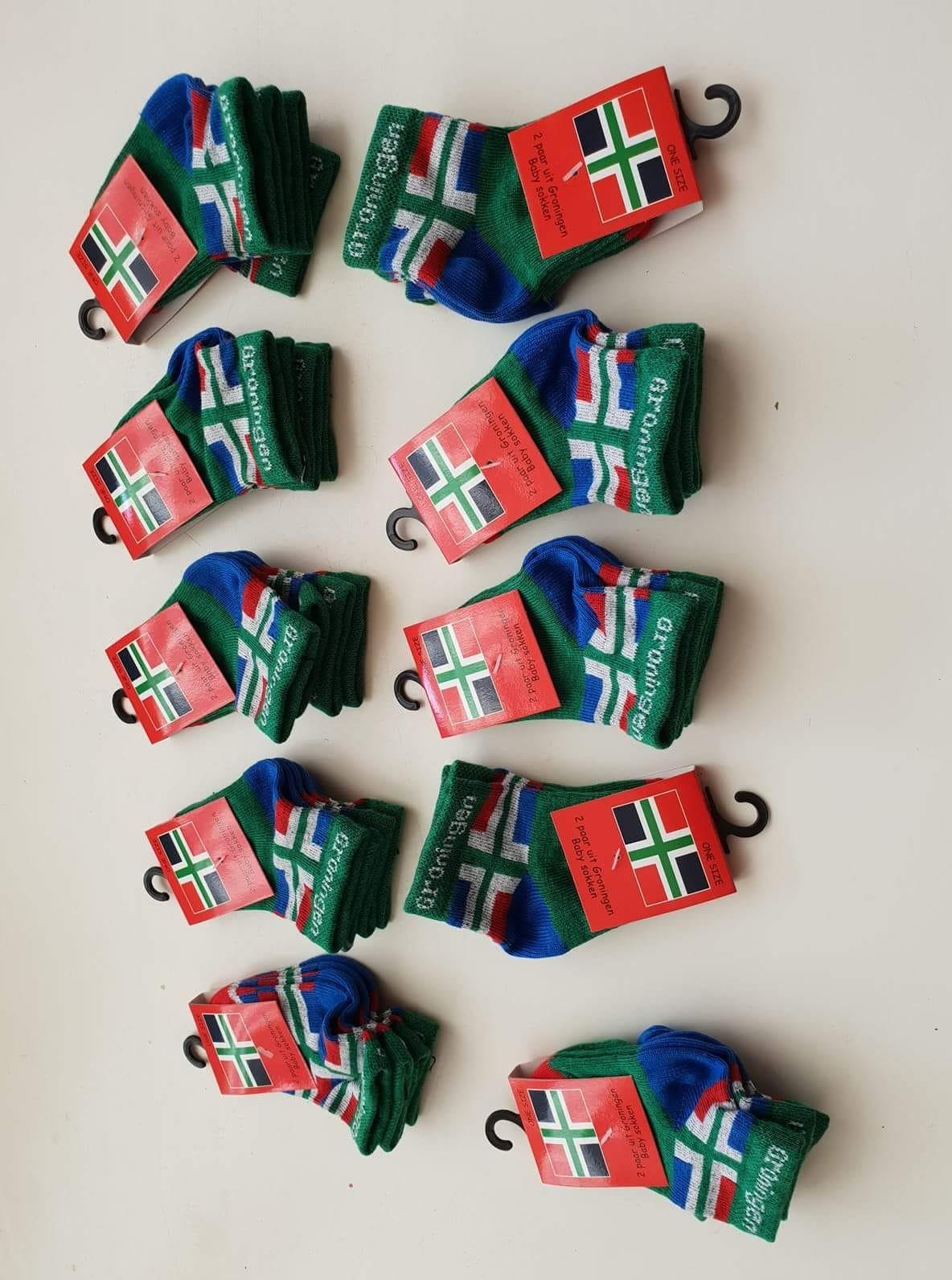 f694cc92baf babysokjes (2 paar) met groningse vlag – Groninger Streekproducten ...
